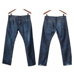 Gap 1969 Men's Selvedge Skinny Blue Jeans 32 x 30